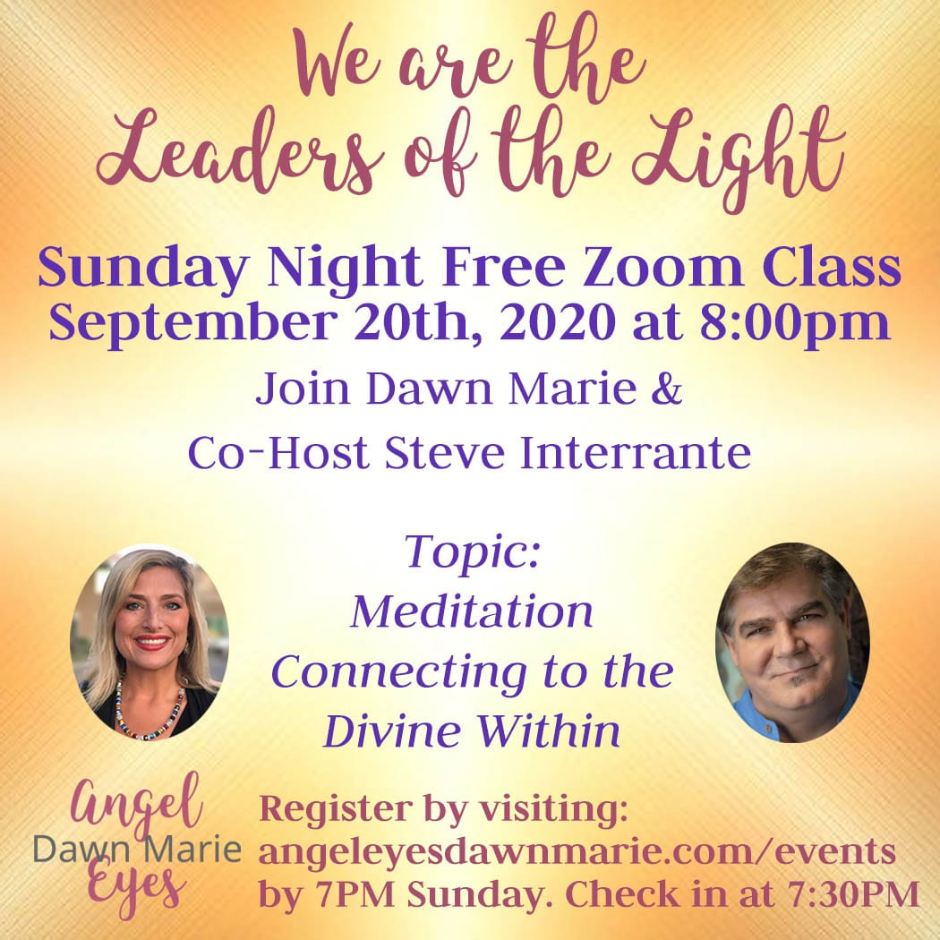 We Are the Leaders of the Light Sept 20