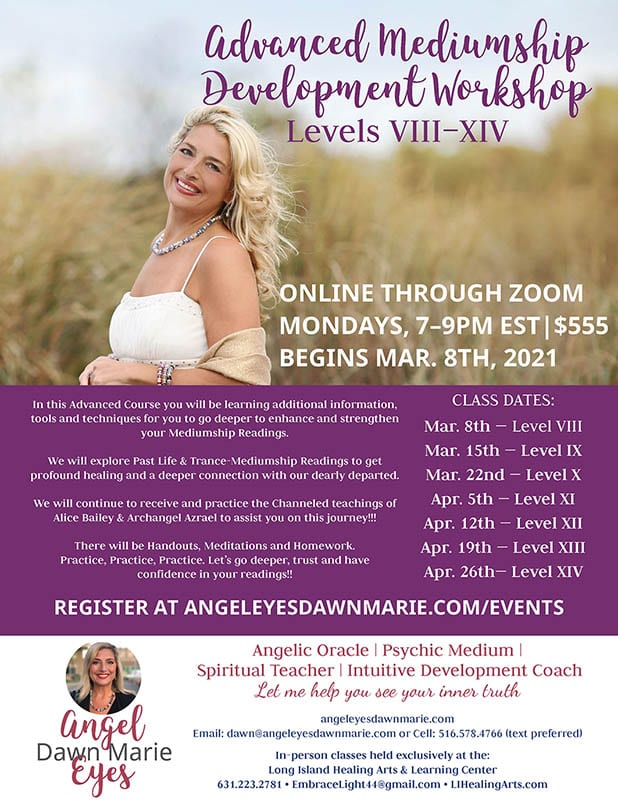 Advanced Mediumship Development Course through Zoom